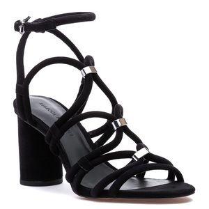 """Rebecca Minkoff """"Apolline"""" Black Leather Sandals 7"""